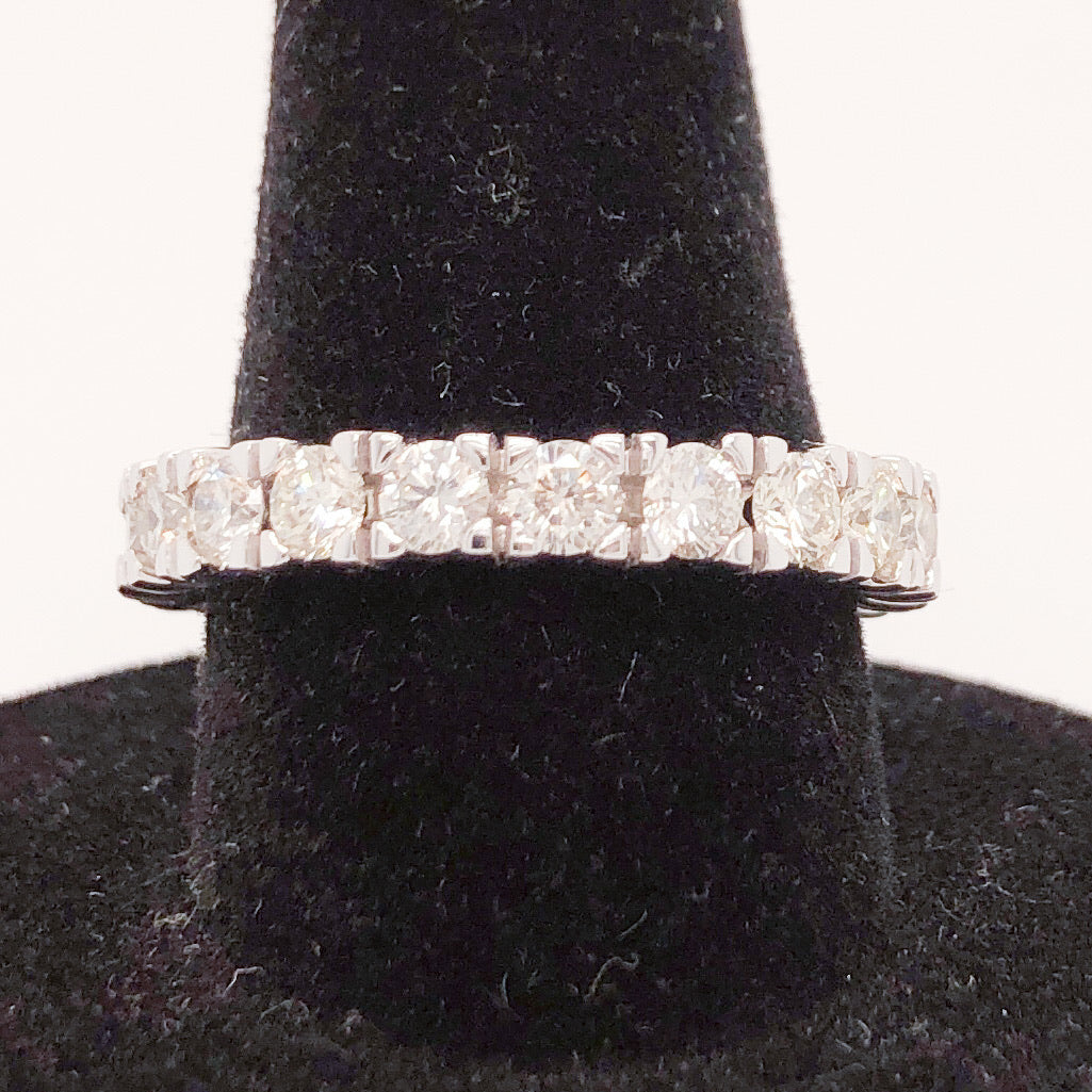 14K White Gold @ 2 ct Diamond Eternity Ring  CR0190