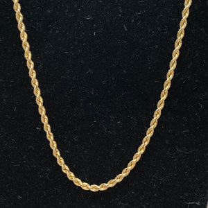 14K Yellow Gold Solid Rope Chain   CN0036
