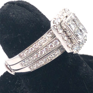 14K White Gold Diamond Cluster Ring and Insert  CR0201