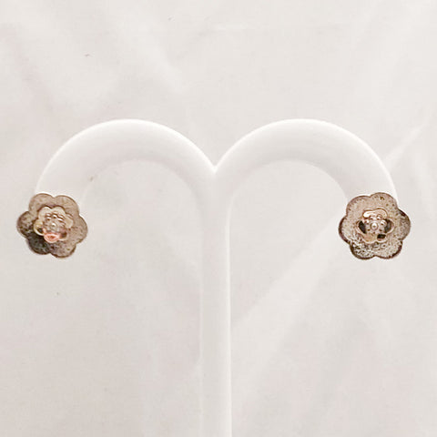 Sterling Silver/10K Yellow Gold Stud Earrings   SI0104