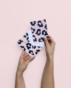 WILD NOTE CARDS PINK X10