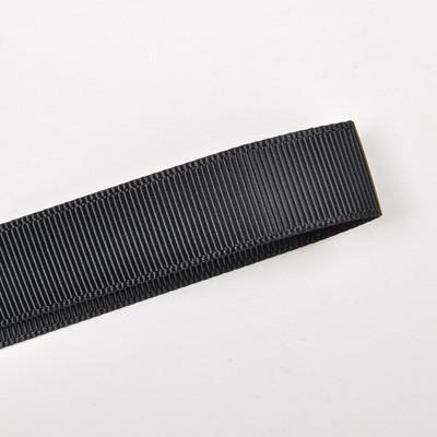 Black 16mm (5/8) Plain Grosgrain Ribbon by the meter