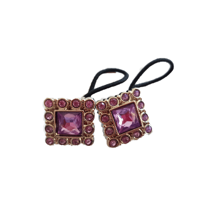 Pigtail Hairband Toggles - Light Purple Square (pair)