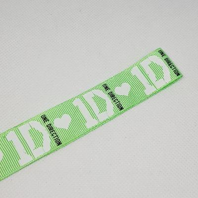 22mm-7-8-one-direction-1d-green-printed-grosgrain-ribbon-by-the-meter Pinkberry Kisses
