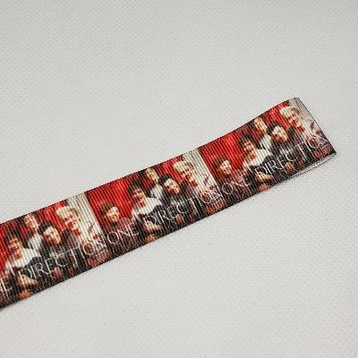 22mm (7/8) One Direction Band Printed Grosgrain Ribbon by the meter
