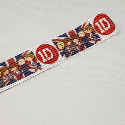 22mm (7/8) One Direction Cartoon Printed Grosgrain Ribbon by the meter