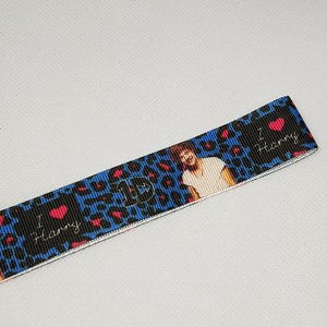 22mm (7/8) One Direction I Love Harry Printed Grosgrain Ribbon by the meter
