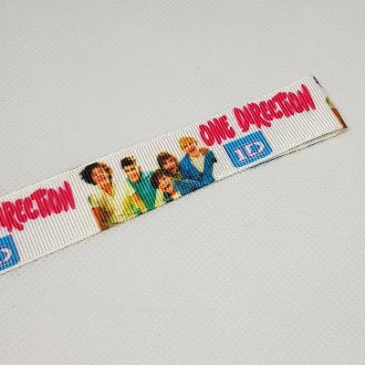 22mm (7/8) One Direction 1D Printed Grosgrain Ribbon by the meter