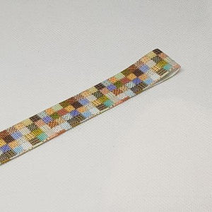 22mm (7/8) Square Patterned Printed Grosgrain Ribbon by the meter Pinkberry Kisses