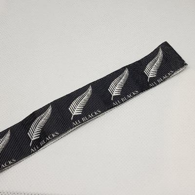 22mm (7/8) All Blacks Printed Grosgrain Ribbon by the meter