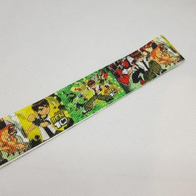 22mm (7/8) Ben 10 Printed Grosgrain Ribbon by the meter Pinkberry Kisses