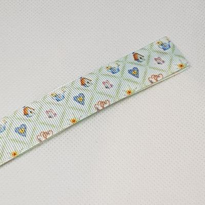 22mm (7/8) Garden Printed Grosgrain Ribbon by the meter
