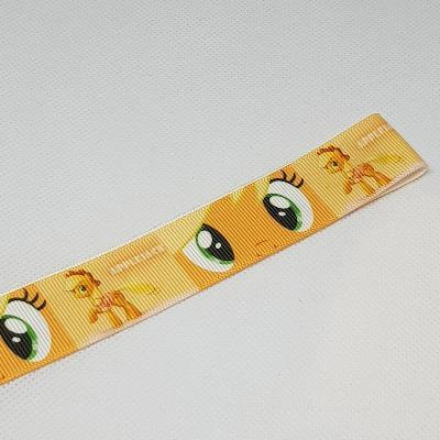 22mm (7/8) My Little Pony Applejack Printed Grosgrain Ribbon by the meter