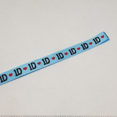 9mm (3/8) One Direction 1D Printed Grosgrain Ribbon by the meter Pinkberry Kisses