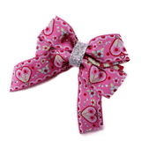 Amore Bow - Girls Non Slip Clips pretty-in-pink