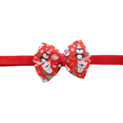 Baby and Toddler Soft Headband - Christmas Animals Bow Hair Accessories Pinkberry Kisses