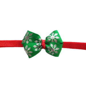 Baby and Toddler Soft Headband - Christmas Green Snowflake Christmas Hair Accessories Pinkberry Kisses