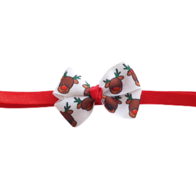 Baby and Toddler Soft Headband - Christmas Reindeer Christmas Hair Accessories Pinkberry Kisses