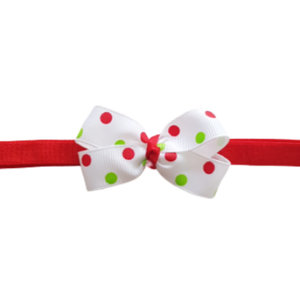 Baby and Toddler Soft Headband - Christmas Spots Bow Headband Christmas Hair Accessories Pinkberry Kisses