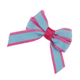 Baby and Toddler non slip hair clips - blue and pink