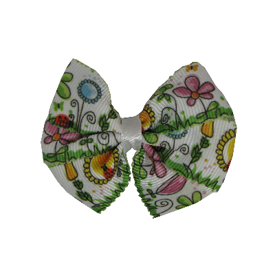 Bella Hair Bow - Flower Garden Pinkberry Kisses
