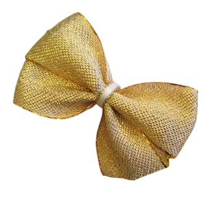 Cherish Hair Bow - Golden Glitz- Hair Accessories for Girl Baby Children Pinkberry Kisses