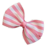 Cherish Hair bow for Children - Pink Stripes