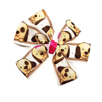 Chica Hair Bow Clip - Hair Accessories pinkberry kisses Puppies