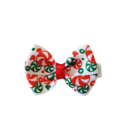 Christmas hair accessories - Cherish Hair Bow Candy Canes  Hair accessories for girls Hair accessories for baby - Pinkberry Kisses