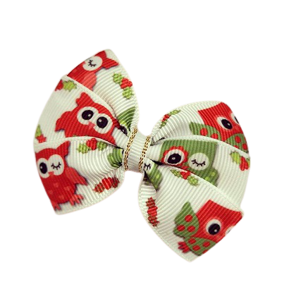 Christmas hair accessories - Bella Bow Christmas Owls Hair accessories for girls Hair accessories for baby - Pinkberry Kisses