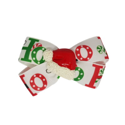 Christmas hair accessories - Cherish Hair Bow Christmas HO HO Hair accessories for girls Hair accessories for baby - Pinkberry Kisses