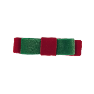 Deluxe Hair Bow - Christmas Red and Green Velvet Deluxe Range Adult Hair Accessories Velvet Hair Bow Velvet Hair Clip