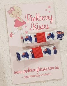 Deluxe hair clips for kids - Australia Day