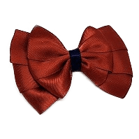 Double Bella Hair Bow Satin - Wine