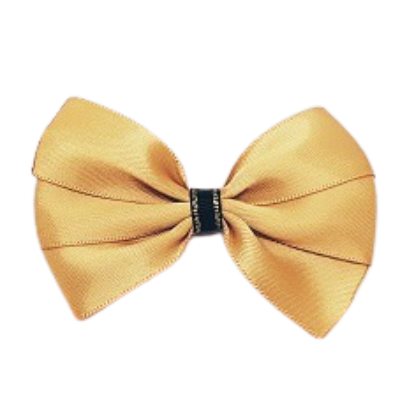 Hair accessories for girls - bella hair bow satin gold Hair accessories for girls Hair accessories for baby - Pinkberry Kisses