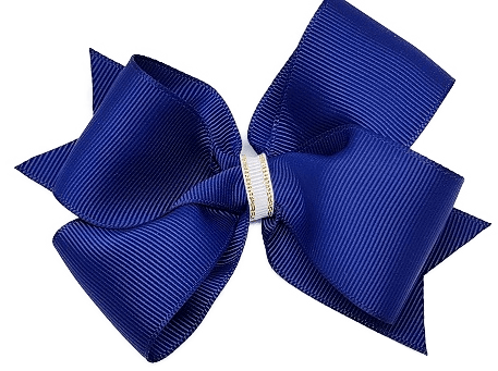 Timeless Hair Bow - Navy