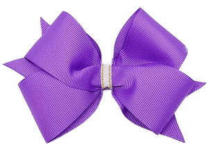 Timeless Hair Bow - Purple - Pinkberry Kisses