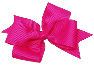 Timeless Hair Bow - Shocking Pink - Pinkberry Kisses