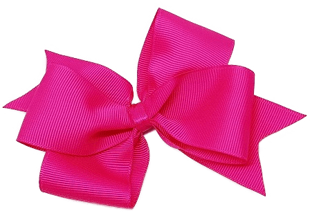 Timeless Hair Bow - Shocking Pink