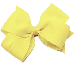 Timeless Hair Bow - Yellow - Pinkberry Kisses