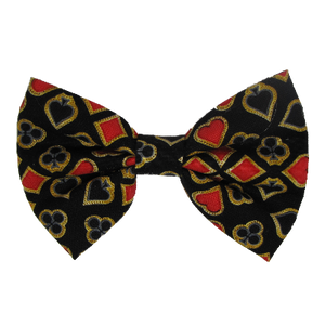 Fabric Rockabilly Hair Bow - Ass of Spade