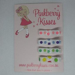 Deluxe Hair clips - Colourful Spots
