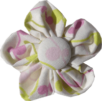 Kanzashi fabric flower - Jazza