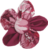Kanzashi fabric flower - Jeanne
