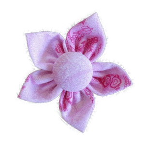 Kanzashi fabric flower - Jorja
