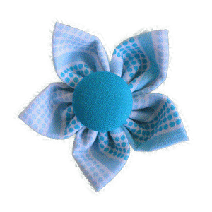 Kanzashi fabric flower - Kelly
