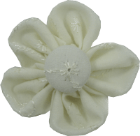 Kanzashi Fabric Flower - Wendy - Pinkberry Kisses