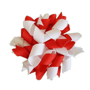 Korker hair clip Australia - red and white