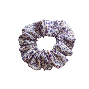 Liberty of London - Purple Floral Scrunchie Hair Accessories Pinkberry Kisses