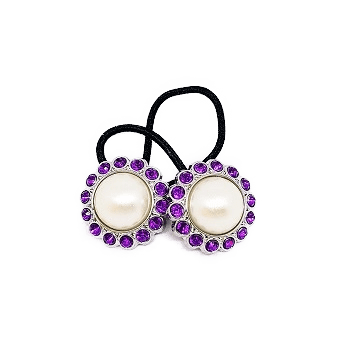 Pigtail Hair Band Toggles - Pearl Purple